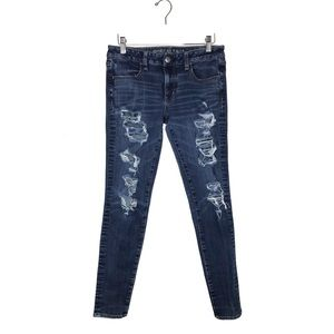 American Eagle Jegging Distressed Ripped 8 Long
